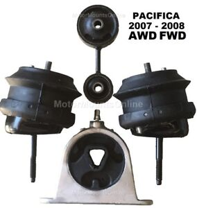 9r3113 4pc Motor Mounts Fit Fwd Awd 3 8l 4 0l 2007 2008 Chrysler Pacifica Auto