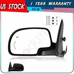 Side View Mirror Power Heated Signal For 2003 2007 Gmc Chevy Truck Driver Left