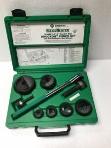 Greenlee 7238sb Manual Knockout Punch Set 1 2 To 2 Conduit free Shipping
