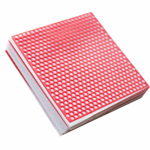 1 Box Dental Lab Supplies Red Round Hole Patterns Wax Casting 10 Sheets