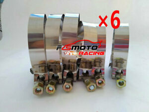 6 X 3 76mm T Bolt Clamps Stainless Steel Hose Turbo Intake Intercooler 79 87mm