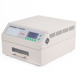 T962a Reflow Oven Infrared Ic Heater Visual Operation Soldering 300 320mm 1500w