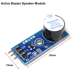 Active Buzzer Speaker Module Pcb Board 3 Pin 3 3v 5v High Level Trigger Module