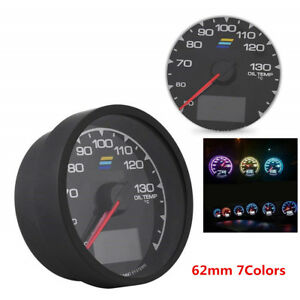 62mm Car Turbo Gauge 7led Lights Colors Voltage Meter Oil Temp 2 5inch Universal