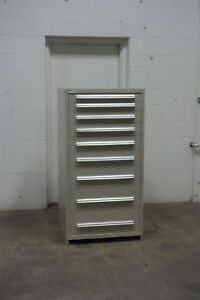 Used Vidmar 9 Drawer Cabinet Industrial Tool Storage 674 Lista
