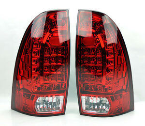 Led Rear Tail Lights Red Clear Pair Rh Lh For Toyota Tacoma 05 14