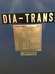 Dia trans 15kva Electric Transformer 3ph 478 402 10 Volt Mitsubishi