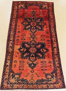 Persian Koliai Tribal Hand Knotted Wool Red Navy Blue Oriental Rug 5 X 10