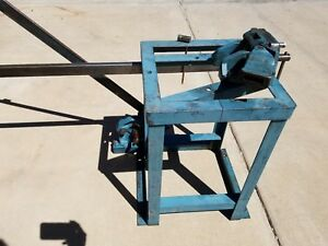 Whitney Metal Tool Co 2 X 2 X 1 4 angle Iron Shear And Bender Table Mounted