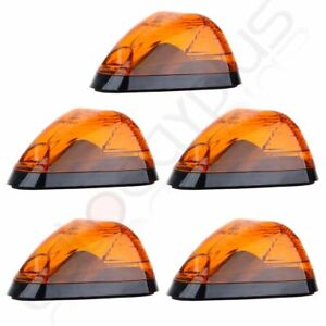 5x Cab Marker Clearance Running Light Amber Cover Base For Ford F 250 F 350
