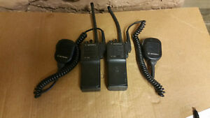 Lot Of 2 Ht1000 Radios With Batteries And Nmn6191c Mic