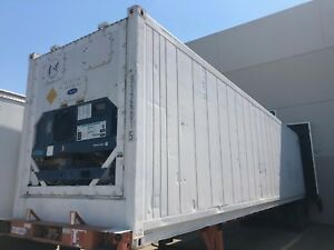 Working Refrigeration Trailer Insulated Storage Container
