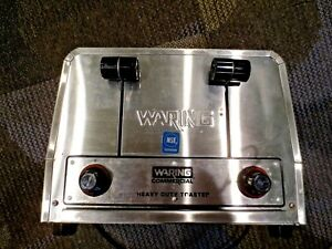 Waring Commercial Heavy Duty Combination Bagel Toaster Model Wct810 2025 Watts