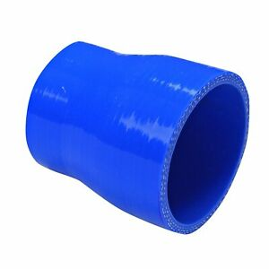 3 To 4 4 ply Straight Turbo intake Piping Silicone Coupler Reducer Hose Blue