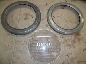 Vintage Clamert Auto Truck Tractor Head Light Lens Parts