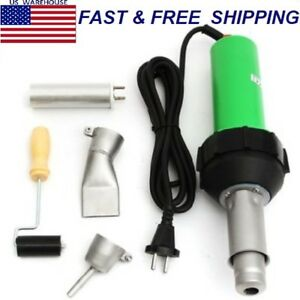 1600w Hot Air Torch Plastic Welder Welding Heat Gun Pistol Kit W Nozzle roller