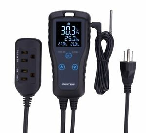 Digiten Digital Lcd Thermostat Pre wired Temperature Controller Heating Cooling