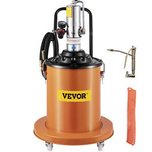Air Operated High pressure Grease Pump With 15ft Hose Gun Rigid Tool Pail