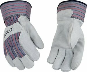 Kinco 1500 Unlined Cowhide Leather Glove Work Large Gray pk Of 6 Pairs