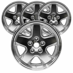 16 Machined W silver Pockets Rim By Jte For 2002 2007 Jeep Liberty set Of 4