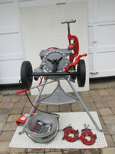 Ridgid 300 Pipe Threader Machine Two 811 Head New Inserts New Transporter Exc