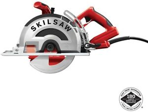 Skilsaw 15 Amp Corded Electric Worm Drive Saw Metal Blade Keyed Red Power Tool