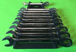 Blue Point 10pc Metric Boerm Set Combination Ratchet Wrenches 8mm 19mm W rack