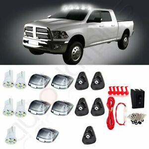 5pcs For Ford F 250 Style Top Running Clearance Light Cab Marker White Led Light