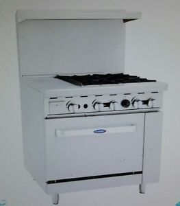 Atosa 36 Ato 12g4b 4 Burner With Left 12 Griddle Standard Oven