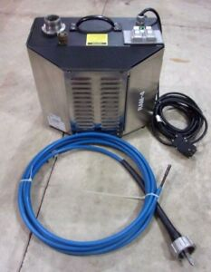 Goodway Ream a matic Ram 4 60 Chiller Tube Cleaner With 13 Brushes Excellent