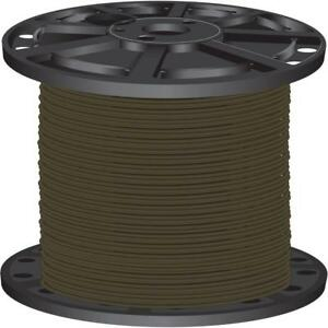 Lightweight Brown 2 500 Ft 10 Gauge Stranded Cu Thhn Building Electrical Wire