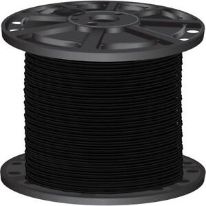Lightweight Black 2 500 Ft 10 Gauge Solid Cu Thhn Building Electrical Wire