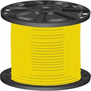 Yellow Pre cut Length 2 500 Ft 10 Gauge Solid Cu Thhn Building Electrical Wire