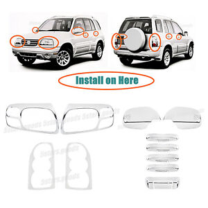 Accessories Chrome Molding Covers Trims For 2004 2005 Suzuki Grand Vitara Suv