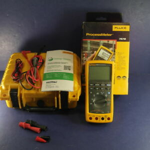 New Fluke 787b Processmeter Original Box Hard Case Accessories
