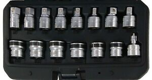 Trident Tools 15 Piece 3 8in Dr Magnetic Oil Drain Plug Key Socket Set T342500