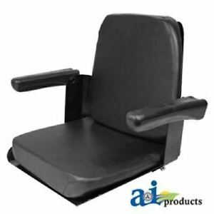 Cs140 1v Case Ih Tractor Seat W flip Up Arms Black Vinyl Fits Many Models