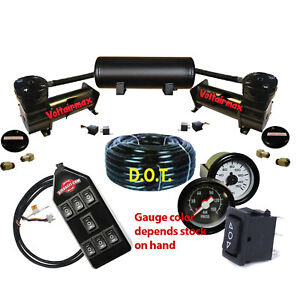 Air Ride Suspension Compressors 480 Black 5 Gal Tank All Items As Shown