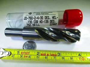 Solid Carbide Carbro 3 4 Drill Reduced Shank Bridgeport Mill Lathe Cnc Tool Bit