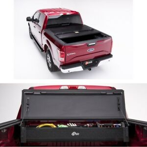 Bakflip F1 Truck Tonneau Cover W Storage Box For 17 18 Ford F 250 F 350 8ft