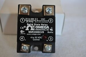 Omega Ssr330dc25 Solid State Relay One New In Box One Very Lightly Used
