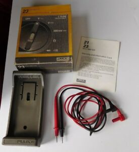 Vintage Fluke Protective Case With Leads For A Digtial 23 Multimeter
