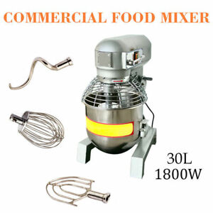 30qt Commercial Dough Food Mixer 2 4hp Gear Driven Bakery Blender self Pick Up