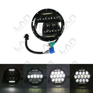 Fit Jeep Wrangler Cj Jk Lj 7 Inch 75w Each Led Headlight Hi lo Beam Drl