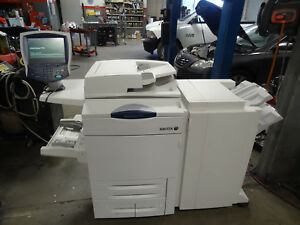 Xerox Workcentre 7775 Copier With Hole Punch Stapler Attachment And Supplies