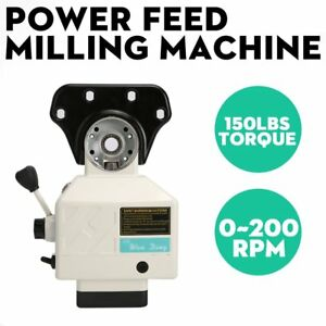 Best Price 110v Power Feed For Vertical Milling Machine X Axis 150lbs 0 200 Rpm