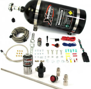22 90000 4 X series Dry Single Nozzle 4an Nitrous System With Purge Kit