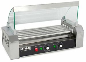 Vivo Electric 12 Hot Dog Five 5 Roller Grill Cooker Warmer Machine With Cover