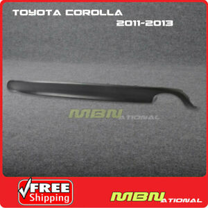 For 11 13 Toyota Corolla S Style Rear Lower Diffuser Lip Spoiler Body Kit Black