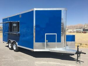 16 X 8 5 Concession Food Trailer Restaurant Catering Bbq
